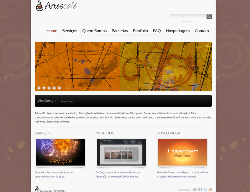 Artescafe web + graphic design